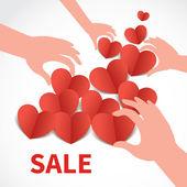 Valentine's day sale banner — Stock Vector