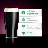 Irish beer infographics design — Stock Vector