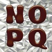 Chocolate Alphabet Letters — Stock Vector