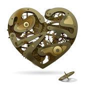 Clockwork hjärta — Stockvektor