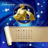 Zodiac Calendar page — Stockvektor