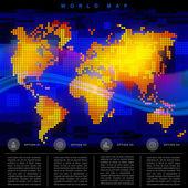 抽象世界地图 — 图库矢量图片