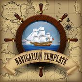 Navigation template — Stock Vector