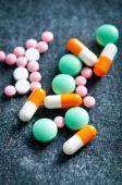 Красочные таблетки закрываются — Стоковое фото