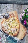 Homemade pie with rhubarb — Stock Photo