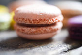 Colorful french macaroons — Stock Photo