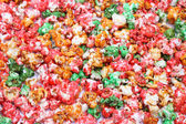 Sugared popcorn texture — Stock Photo