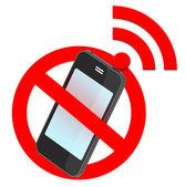 No smartphone traffic sign — Stock Photo