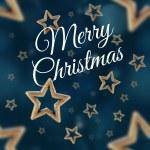 Merry Christmas on the night stars seamless pattern 2 — Stock Photo #59342479
