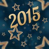 2015 on the night stars seamless pattern — Stock Photo