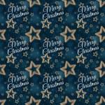 Merry Christmas on the night stars seamless pattern 2 — Stock Photo #59870247