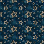 夜晚星星无缝模式 2 — 图库照片