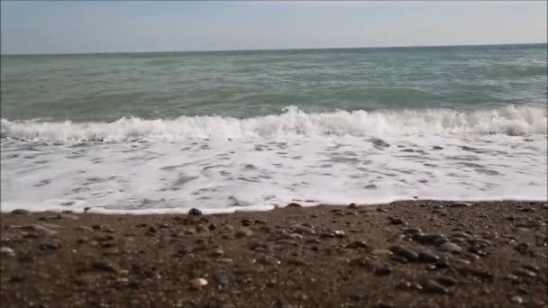 La costa del mar negro — Vídeo de stock