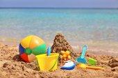 Childrens beach toys — Stock Photo