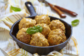 Meatballs with riceand vegetable — Stock Photo