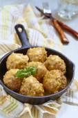 Meatballs with riceand vegetable — Zdjęcie stockowe