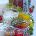 Assortment of salad dressings — Stock Photo #52923953