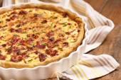 Savory pie with chicken — Stok fotoğraf