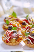 Holiday Appetizers on the platter — Stock Photo
