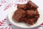 Brownie squares — Stock Photo