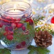 Christmas decoration with candle — Stock Photo #53947753