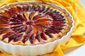 Plum and Almond Tart — Stock Photo