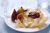 Baked Camembert with Figs — Stock Photo