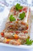 Rabbit galantine with vegetables — Foto de Stock