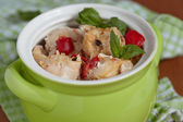 Chicken stew with pepper ant tomato — Stock Photo