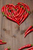 Chili pepper heart — Stock Photo