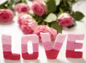 Valentines day concept with letters love — Foto de Stock