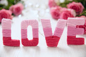 Valentines day concept with letters love — Stock Photo