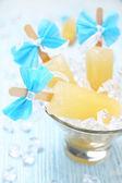 Fruit ice cream popsicle — Stock Photo