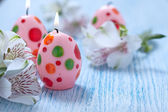 Easter decoration with candles — Stock Photo