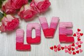 Valentines day concept with letters love — Foto Stock
