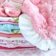Layette for newborn baby girl — Stock Photo #72641103