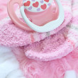 Layette for newborn baby girl — Stock Photo #72641125