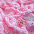 Layette for newborn baby girl — Stock Photo #76708719
