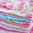 Layette for newborn baby girl — Stock Photo #76708781