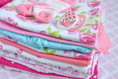 Layette for newborn baby girl — Stock Photo