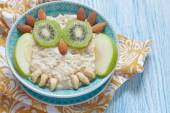 Kids breakfast porridge — Stock Photo