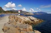 Lighthouse on the Norwegian Lofoten — Stock Photo