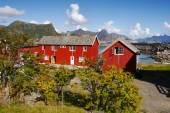 Lofoten village, Norway — Stockfoto