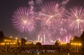 Vuurwerk in Moskou — Stockfoto