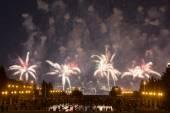 Fuegos artificiales en Moscú — Foto de Stock
