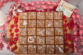Varış takvimi, Noel kurabiyeleri — Stok fotoğraf