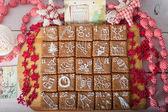 Advent calendar, christmas cookies — Stockfoto