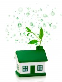 Green house with bubbles — Stock Photo