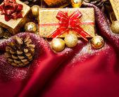 Festive Christmas composition — Stock Photo