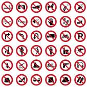 Prohibited icons — Stock Vector